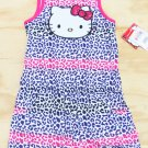 Hello Kitty Girls Size 4 Purple Leopard Print Romper One-Piece Sleeveless Shorts