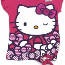 Hello Kitty Girls size 5 Glitter Bows Tie-Front Tee Shirt Pink Kids T-shirt New