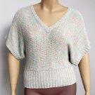 Heart N Crush Juniors L Pastel V-neck Dolman Sweater Top Knit Shirt