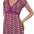 Hot Tempered Juniors S Purple V-neck Babydoll Top Blouse Shirt Small New