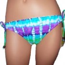 Hobie Juniors XL Adjustable Hipster Bikini Bottoms Blue Green Purple Tie-dye