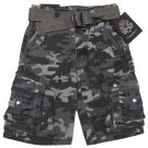 English Laundry Boys size 10 Gray Camo Cargo Shorts with Belt New