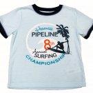 Carters Boys size 4 Blue Hawaii Tee Shirt Pajama Top