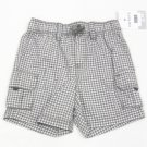 Carters Boys 24 Mos Gray White Check Plaid Cargo Shorts Baby Carter's Playwear