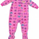 Disney Princess Girls 2T Pink Footie Pajamas Footed Fleece Sleeper One Piece