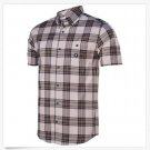 DC Shoes Mens S Grego Short Sleeve Shirt Gray Plaid Woven Button-down Shirt