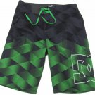 Dc Shoes Mens size 28 Tronic Boardshorts Gray and Green Board Shorts