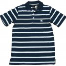 Dc Shoes Mens S Navy Blue Stripe Polo Shirt Small Men's New