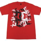 DC Shoes Mens S Midevil Tee Shirt Red T-shirt with Black and White Logo Small New