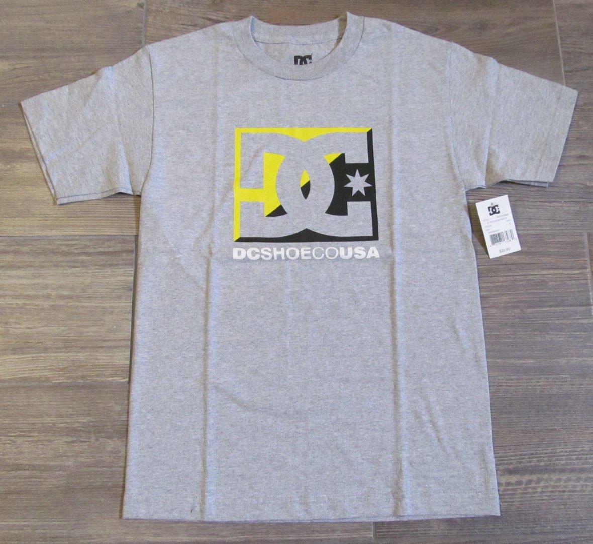 DC Shoes Mens S Cross Stars Tee Shirt Small Heather Gray T-shirt New