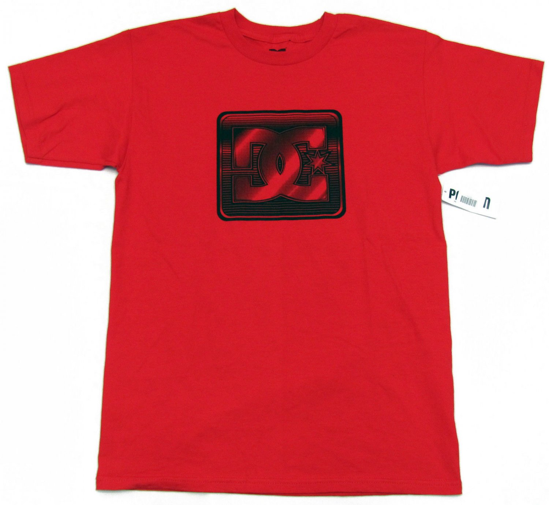 Dc Shoes Mens M Red Tee Shirt with Black Logo Medium New