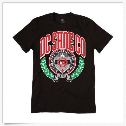 Dc Shoes Mens M Higher Learning Tee Shirt Logo T-shirt New Medium