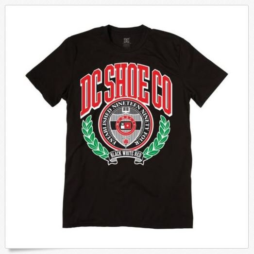 Dc Shoes Mens S Higher Learning Tee Shirt Black Logo T-shirt New Small