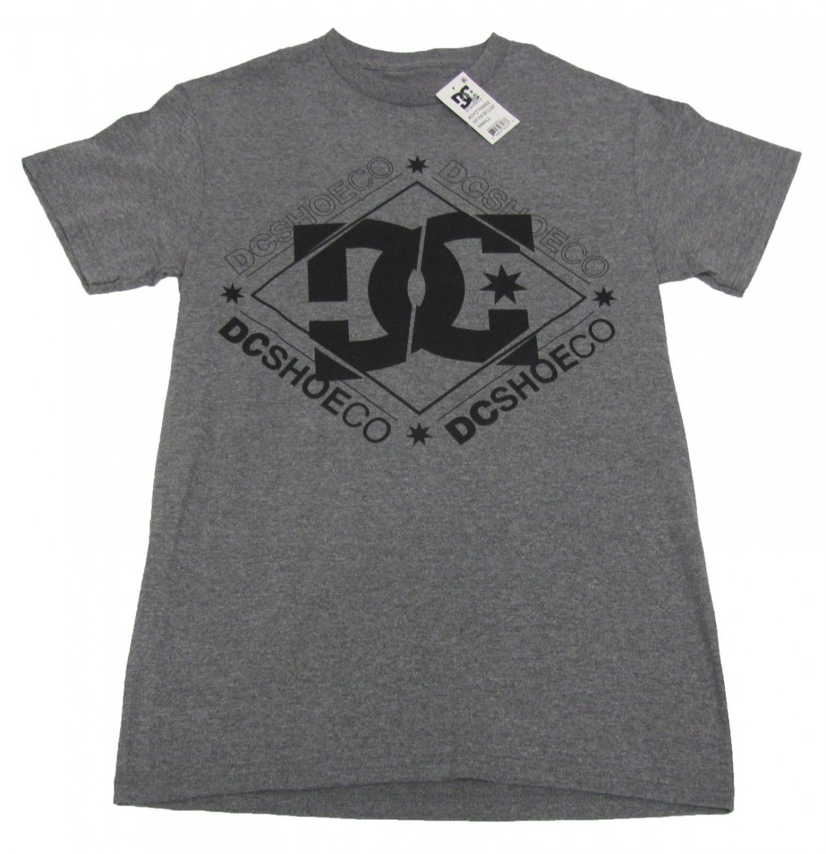 DC Shoes Mens S Closer Tee Shirt Deep Heather Gray T-shirt Small New