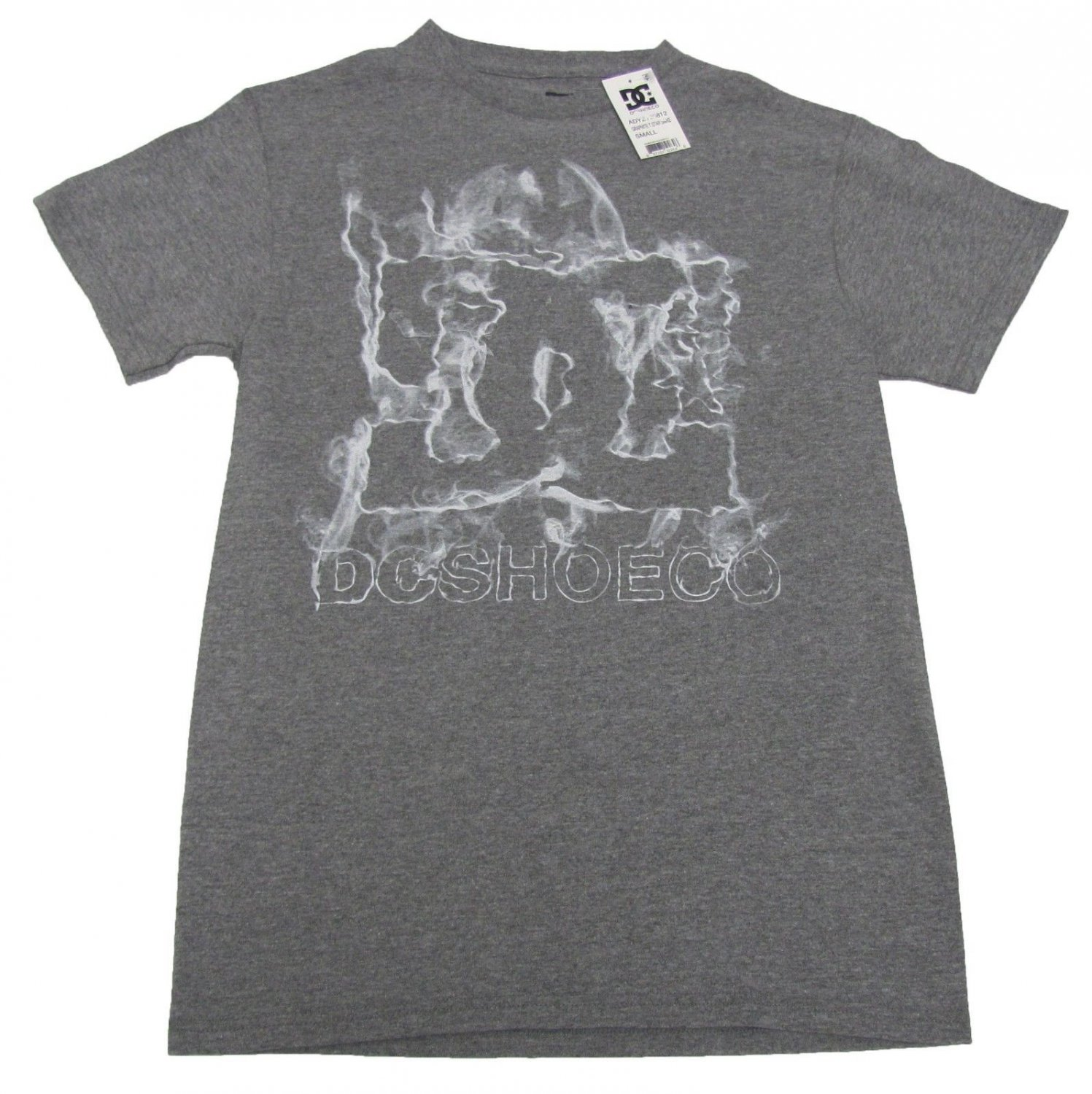 DC Shoes Mens S Star Smoke Tee Shirt Graphite Heather Gray Small