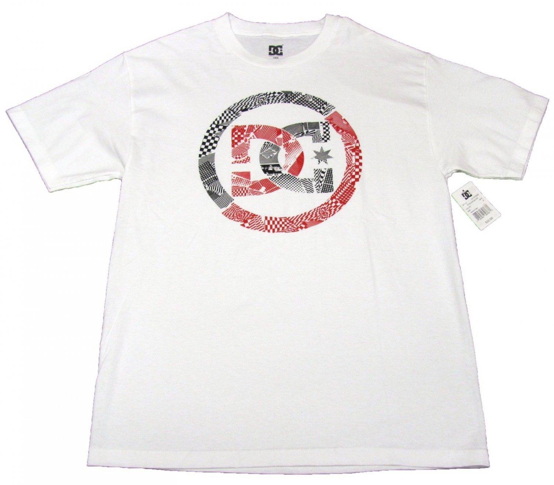 DC Shoes Mens L Black Block Tee Shirt White Short Sleeve T-shirt Large