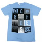 Dc Shoes Mens S Hollywood Squares Light Blue Tee Shirt Small