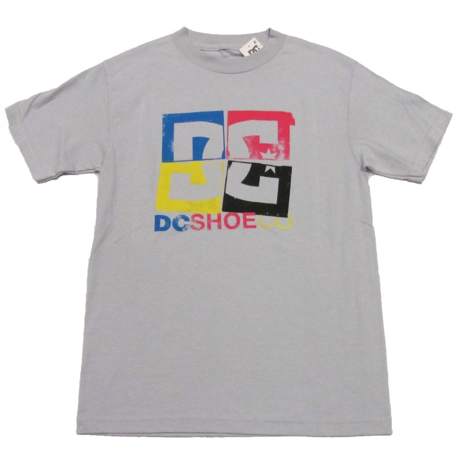 Dc Shoes Mens S cmyk Tee Shirt Light Gray Small T-shirt New