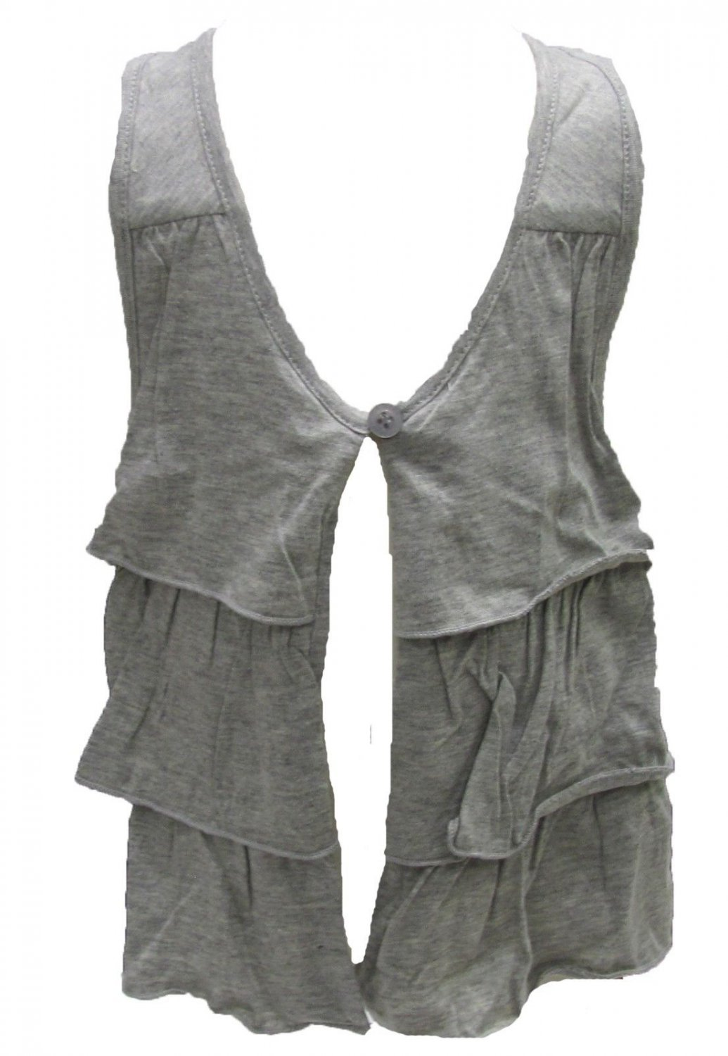DKNY Toddler Girls 2T Heather Gray Tiered Ruffle Racerback Vest New