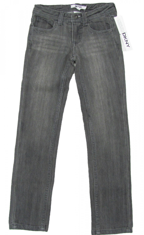 DKNY Youth Girls Size 10 Gray Stretch Denim Skinny Jeans