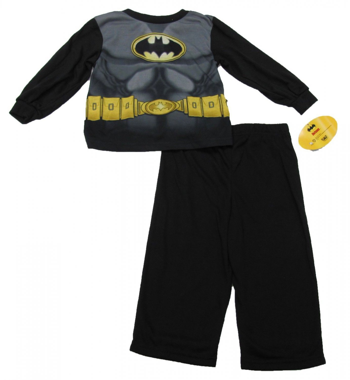 Dc Comics Boys 2T Batman Pajama Shirt Pants and Cape 3-Piece Set
