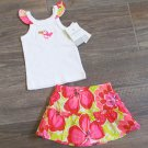 Carters 3 Months 2-Piece Skirt Set Toucan Floral Tropical Tank Top Shirt Baby Girls