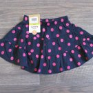 Carters 12 Months Skirt Scooter Skort Skirt Navy Blue with Pink Polka Dot Baby Girls New