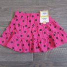 Carters 12 Months Skirt Scooter Skort Skirt Pink with Brown Polka Dot Baby Girls New