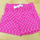 Carters Girls size 6 Shorts Pink Ikat Print Pull Up Playwear Cotton