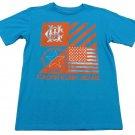 Calvin Klein Jeans Boys L T-shirt Flag Tee Shirt Blue Youth Large