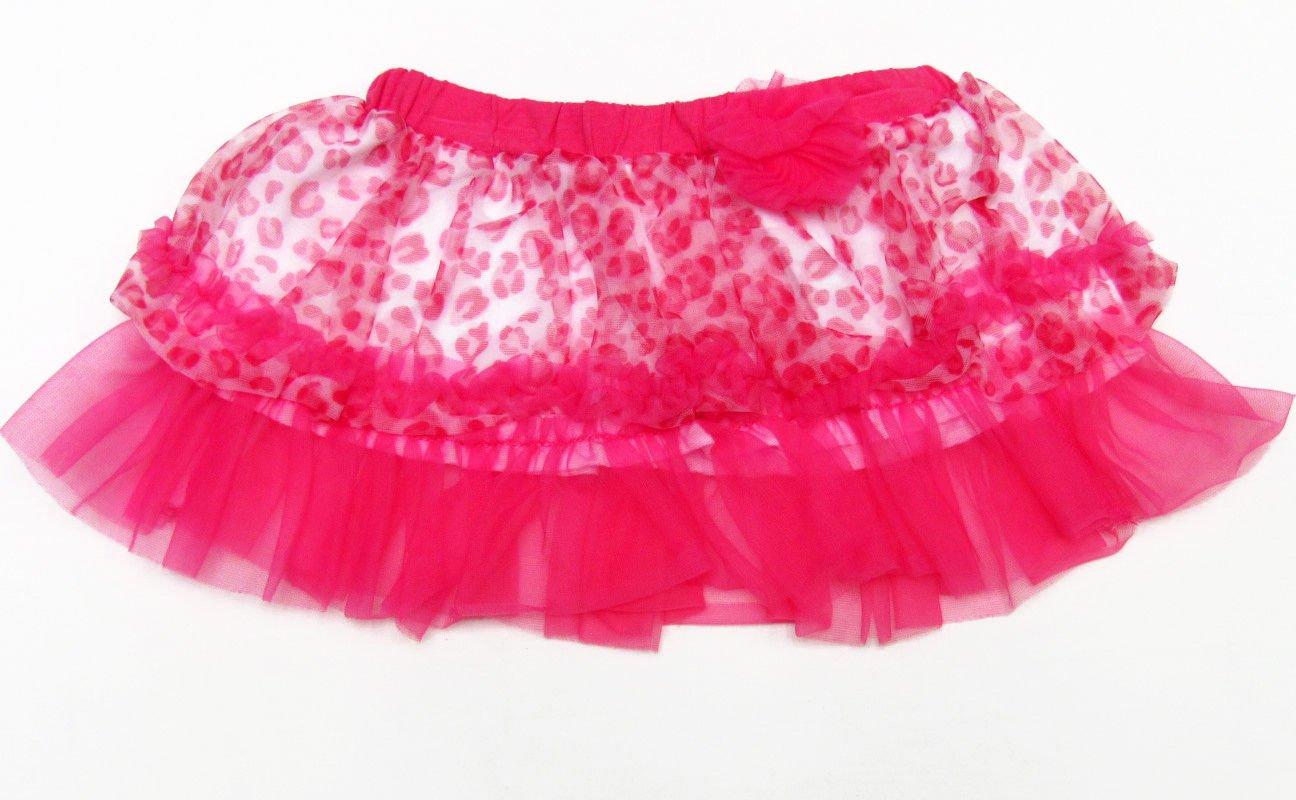 Baby Starters Girls 12 Mos Pink Leopard Print Tutu Skirt Infant