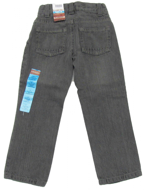 Arizona Boys size 4 Skinny Jeans with Adjustable Waist Gray Kids New