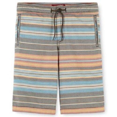 Arizona Boys 4 Shorts Orange and Gray Stripe Oxford Short Kids