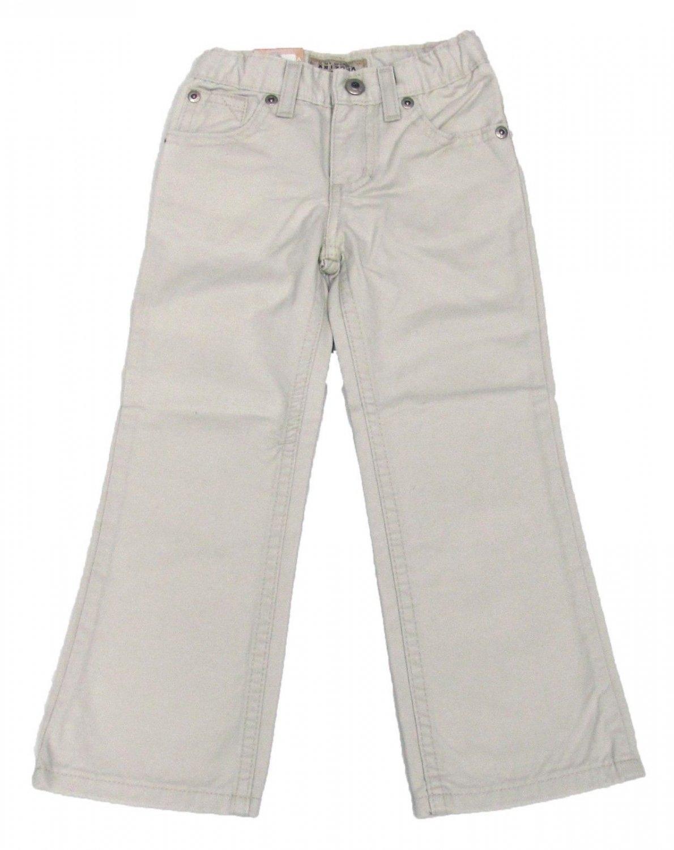 Arizona Girls 12 Slim Khaki Boot Cut Pants with Adjustable Waistband Sand Beige New
