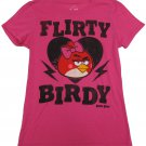 Angry Birds L T-shirt Flirty Birdy Pink Tee Shirt Juniors Large