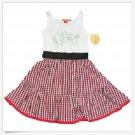 Apple Bottoms Dress M Girls Gingham Checkered White Red Black Sleeveless