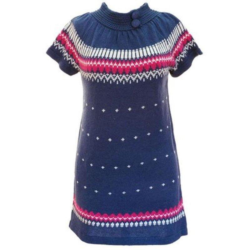 jon & anna M Blue Sweater Dress Knit with Buttons Winter Juniors Medium New B602
