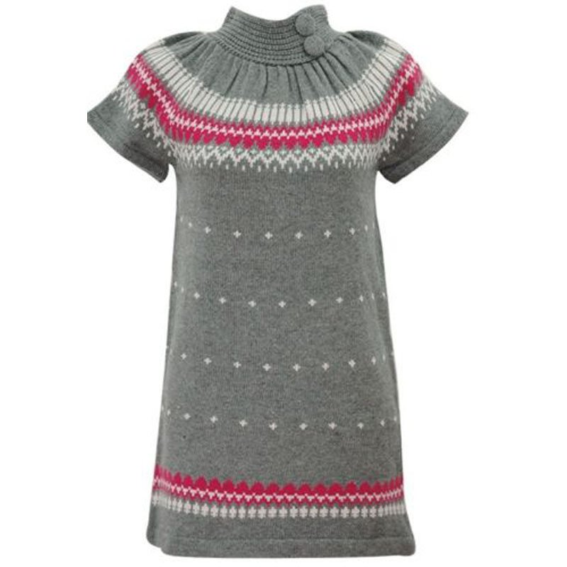 jon & anna L Gray Sweater Dress Knit with Buttons Winter Juniors Large New B602