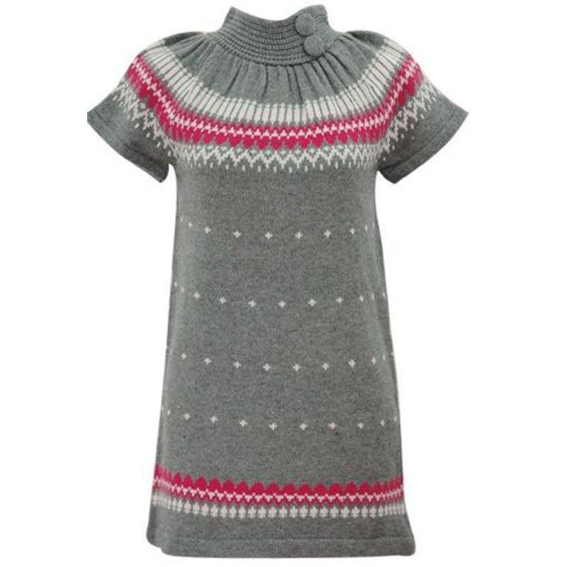 jon & anna M Gray Sweater Dress Knit with Buttons Winter Juniors Medium New B602