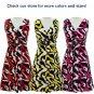 jon & anna S V-neck Dress with Buckle Pink Wave Print Surplice Knee Length Womens 7053