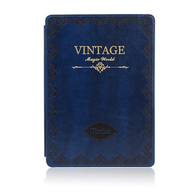 MOSSO iPad Air 2/ iPad Mini Classic Vintage Style Leather Case (Blue)