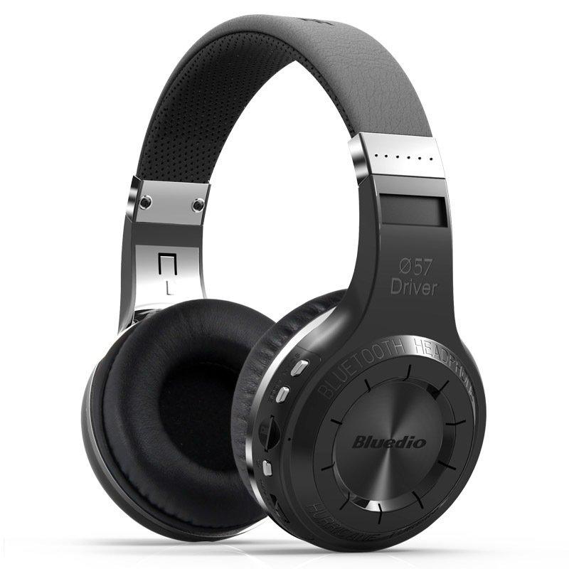 Bluedio H+ Turbine Hurricane Dynamics Wireless Bluetooth 4.1 Stereo Over-Ear Headphone (Black)