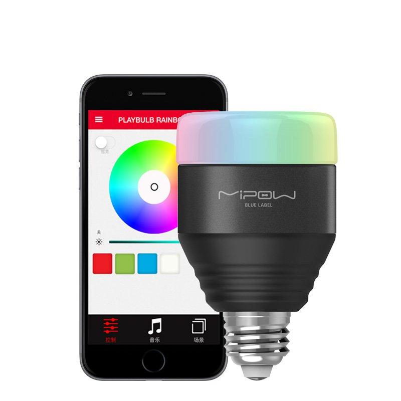 MIPOW Playbulb Rainbow Wireless Bluetooth Remote Control LED Color Smart Light Bulb
