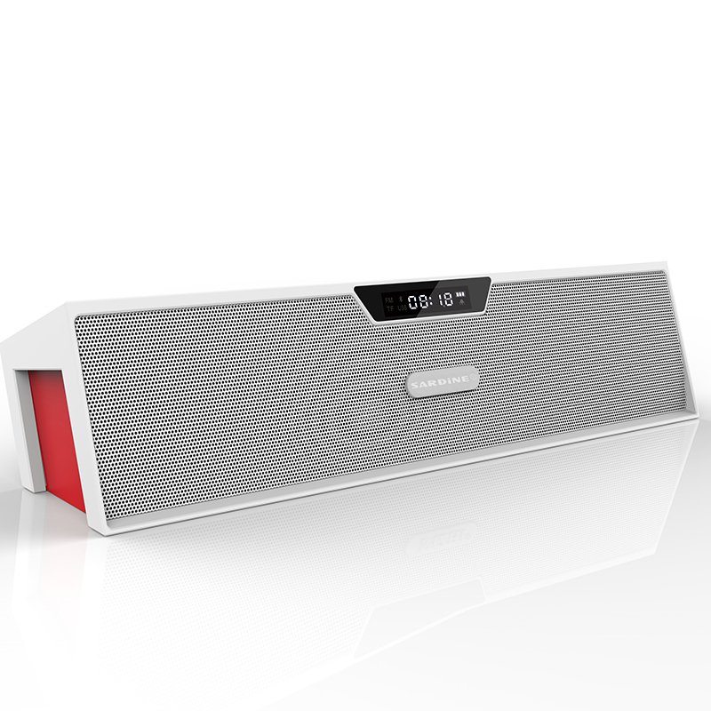 Sardine SDY-019 Alarm Hands-free Bluetooth Speaker (White)
