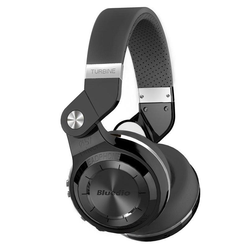 Bluedio T2+ Turbine 195° Rotary Folding Bass Wireless Bluetooth Stereo Over-Ear Headphone (Black)