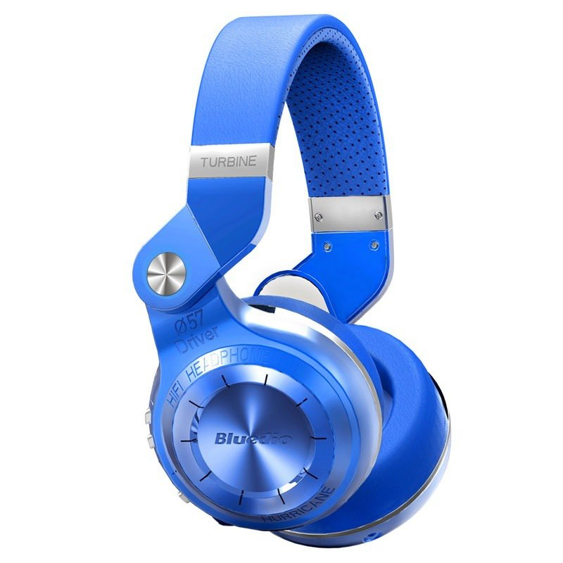 Bluedio T2+ Turbine 195° Rotary Folding Bass Wireless Bluetooth Stereo Over-Ear Headphone (Blue)