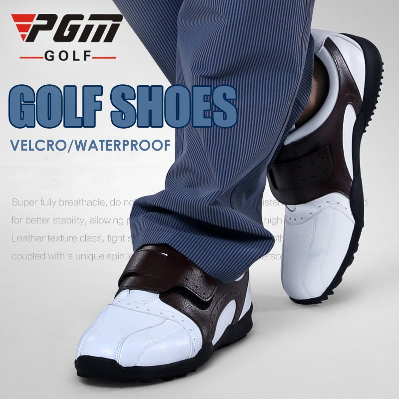 PGM Men's Breathable Velcro Anti-slip Waterproof Stable Spikes Golf Sports Shoes