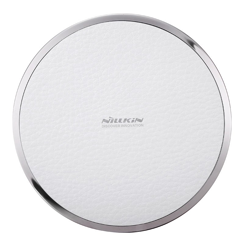 Nillkin Magic Disk 3 Qi Standard Litchi Grain PU Leather 5V/1A Wireless Charger (White)