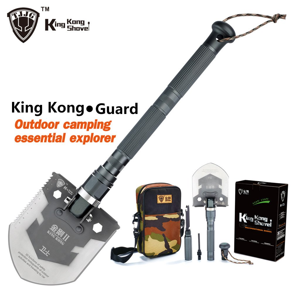 Multi-functional Folding Outdoor Military King Kong Shovel with Knives, Survival tool for Camping