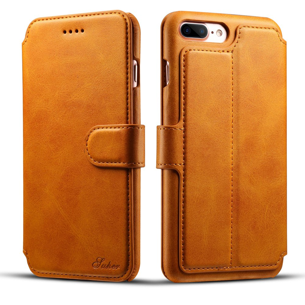 iPhone 7 Plus Wallet Synthetic Leather Folio Flip Case
